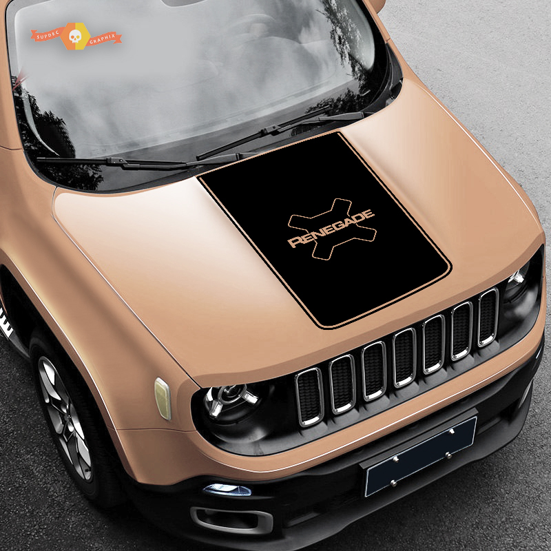 2015-2018 JEEP RENEGADE VINYL HOOD AND SIDE DECALS STICKERS GRAPHICS