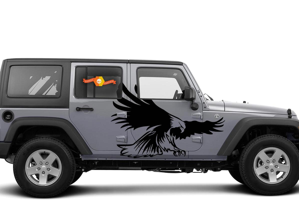 American Iron-Vinyl Decal Sets for Jeep, Ram, Ford, Chevy Graphics