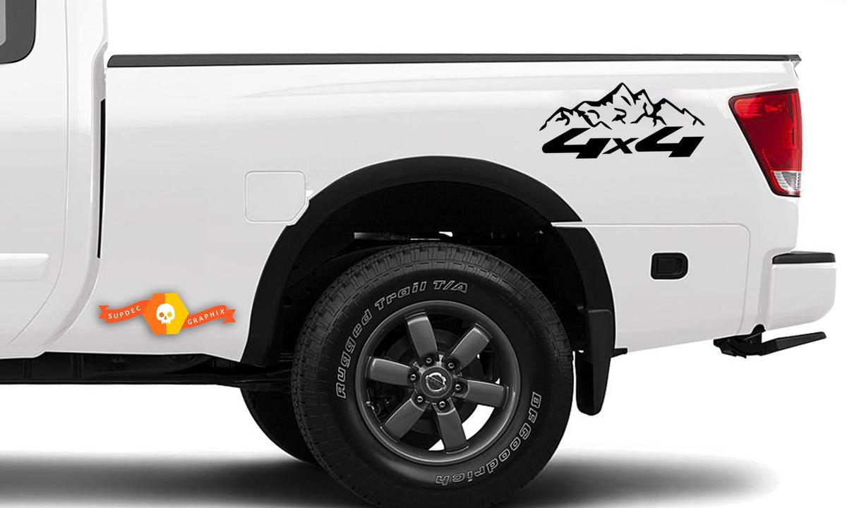 4X4 Off Road Mountain Vinyl Decals Fits to Nissan, Toyota, Chevy, GMC, Dodge, Ford