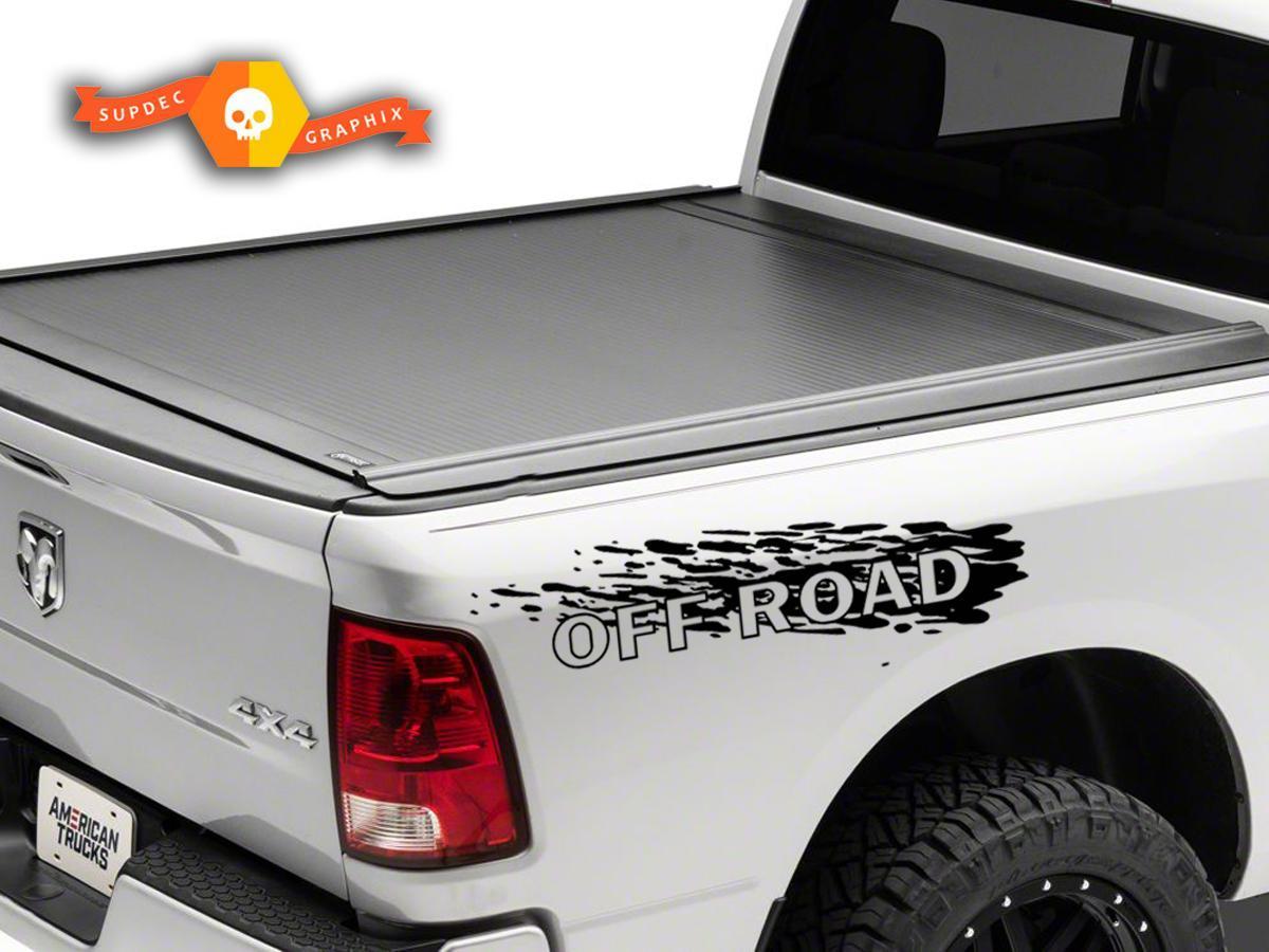 Pair decals Off Road for 4x4 4wd DODGE RAM 1500 2500 3500 DAKOTA DURANGO