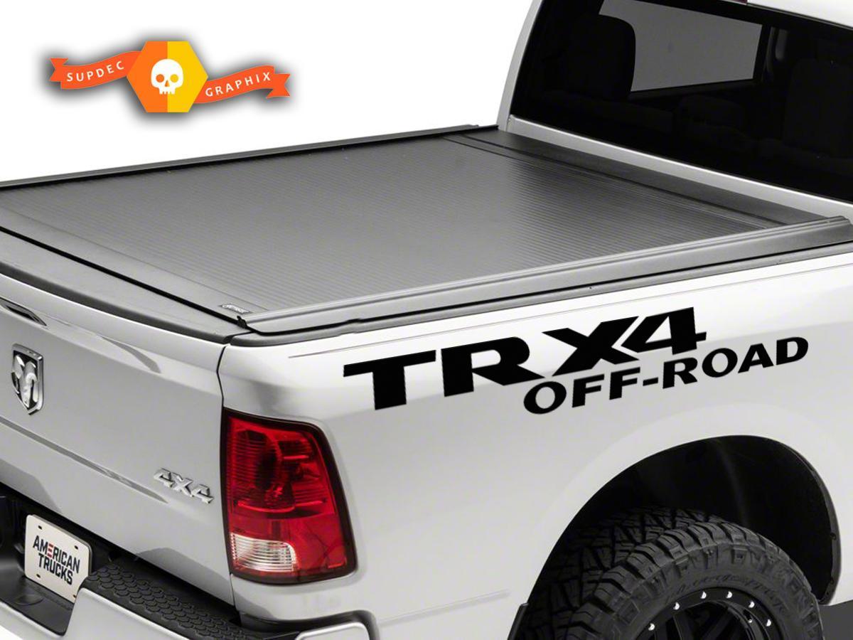 2X Dodge TRX 4 OFF ROAD AUFKLEBER RAM 1500 2500 Seitengrafiken Vinylkörperaufkleber
