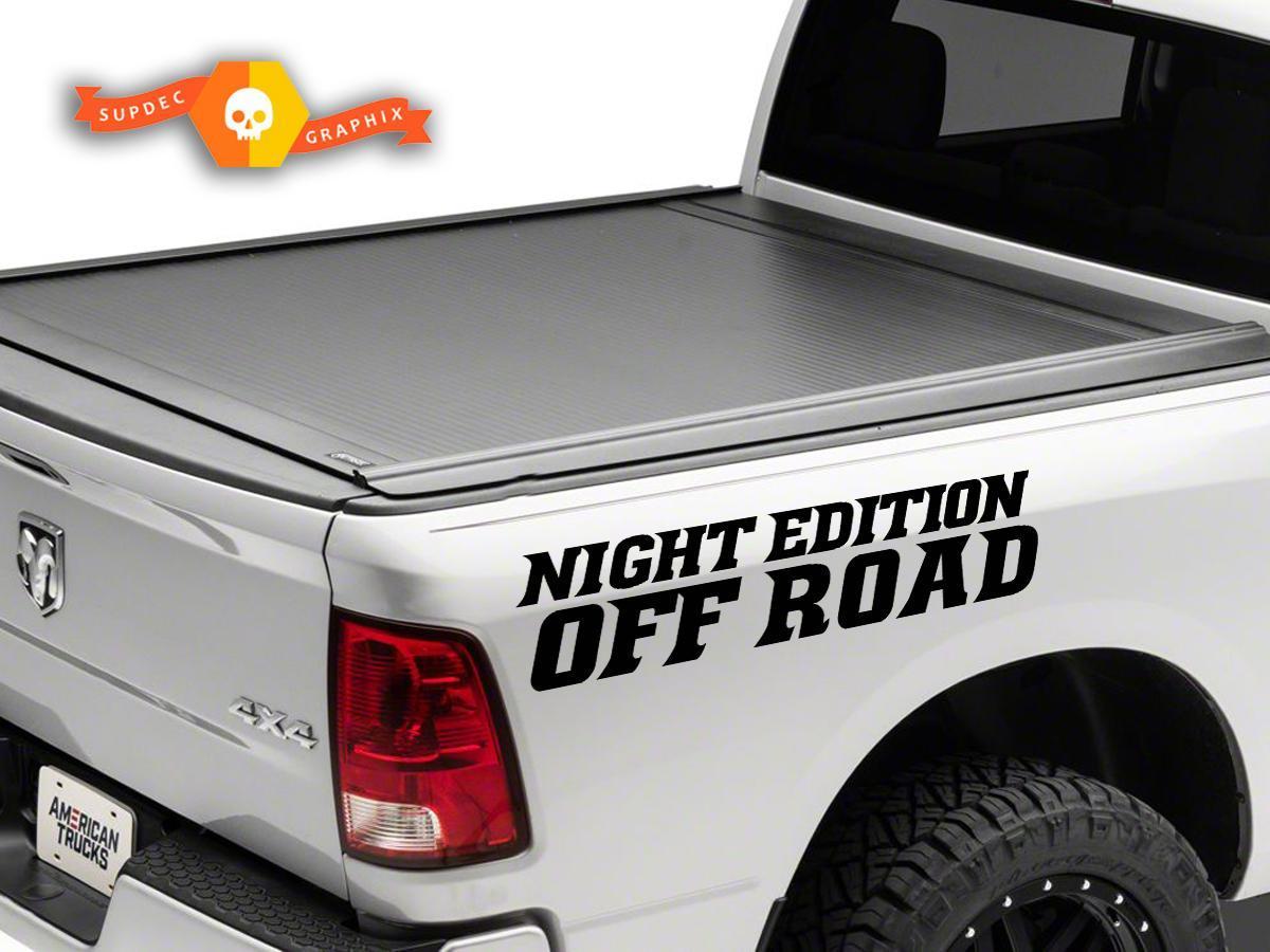 Dodge Ram Rebel Nacht Edition Side Truck Vinyl Aufkleber Grafik Offroad Pickup