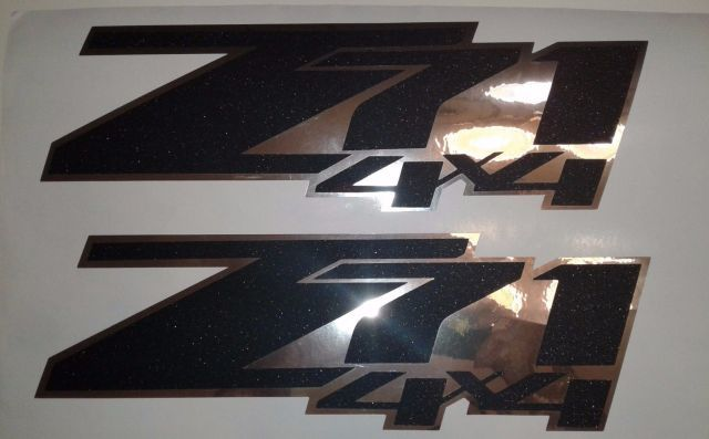 Z71 4x4 Aufkleber Sandpapier und Chrom Silverado CHEVROLET CHEVY (Set)