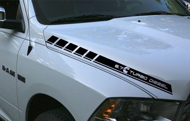 Rt 22 Toyota >> Product: Dodge Ram 2 vinyl hood stripes 6.7L turbo diesel ...