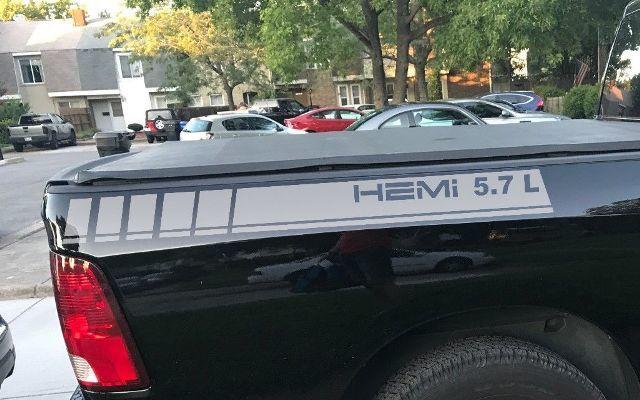 2 LKW Vinyl Aufkleber Streifen Dodge Ram 1500 5,7 L hinten hinten Grafik Hemi Mopar