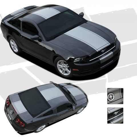 For FORD MUSTANG Racing Graphics Kit Decals Trim EE-1780 Emblems 2013- - 2020