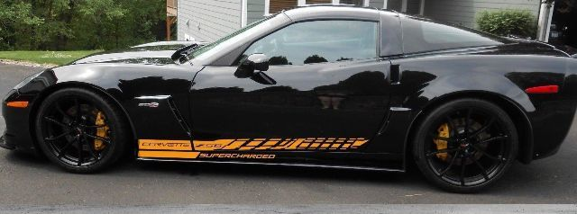 Seitenstreifen-Aufkleber Grafik-Aufkleber-Kit Scharged Chevy Corvette Z06 C6 2005-2013