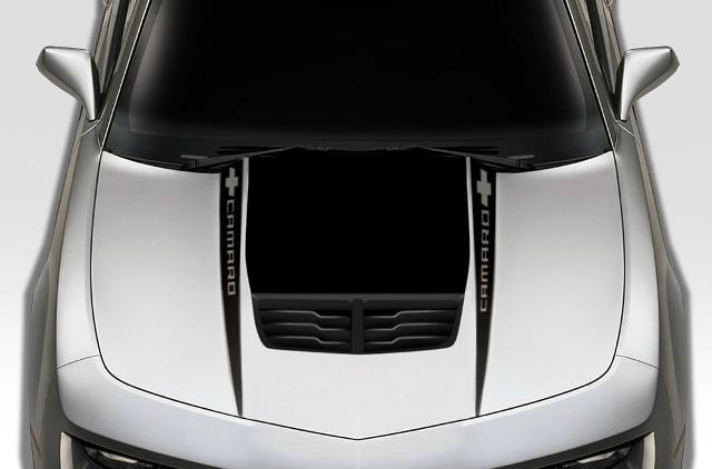 CHEVROLET CAMARO (2010-2015) CUSTOM VINYL DECAL WRAP KIT - CAMARO HOOD SPEARS