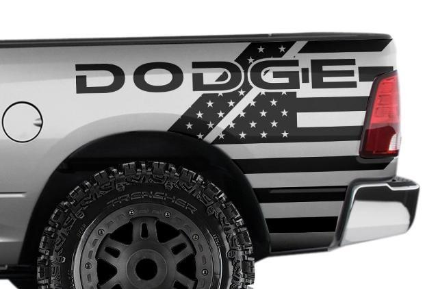 DODGE RAM TRUCK 1500/2500/3500 (2009-2018) CUSTOM VINYL DECALS - DODGE USA