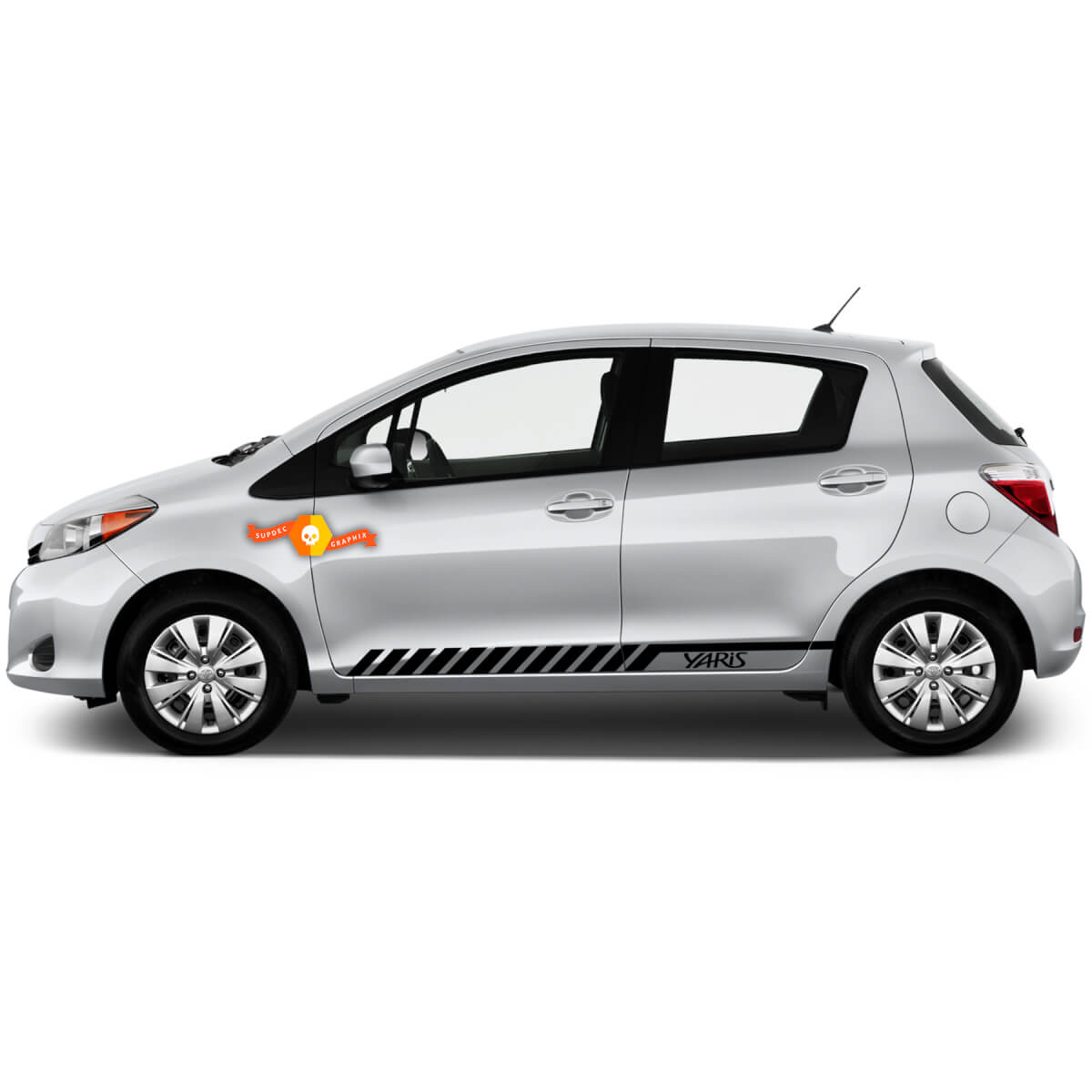 Toyota Yaris 013 side racing stripes graphics stickers decals vinyl