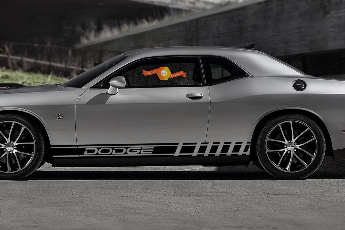 Paar Streifen Grafik Dodge Charger Viper Reise Durango Car Racing Aufkleber Aufkleber