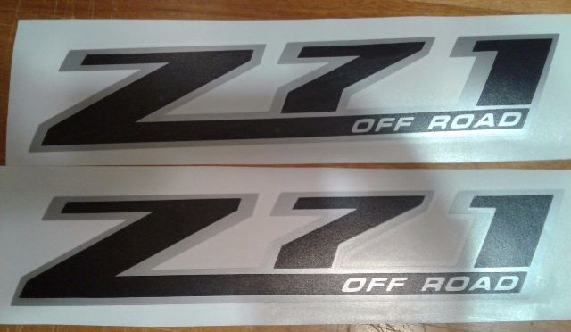Z71 off road decals Any Colour sticker SILVERADO CHEVROLET TRUCK (set)