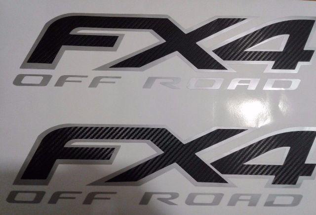 Ford FX4 Offroad Aufkleber Kohlefaser, Sport Chome Truck (SET)