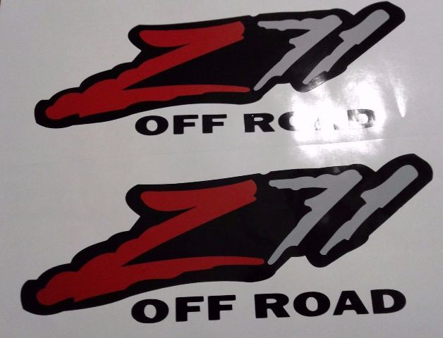 Z71 Offroad Aufkleber Aufkleber, Silverado Tahoe GM Sierra (SET)
