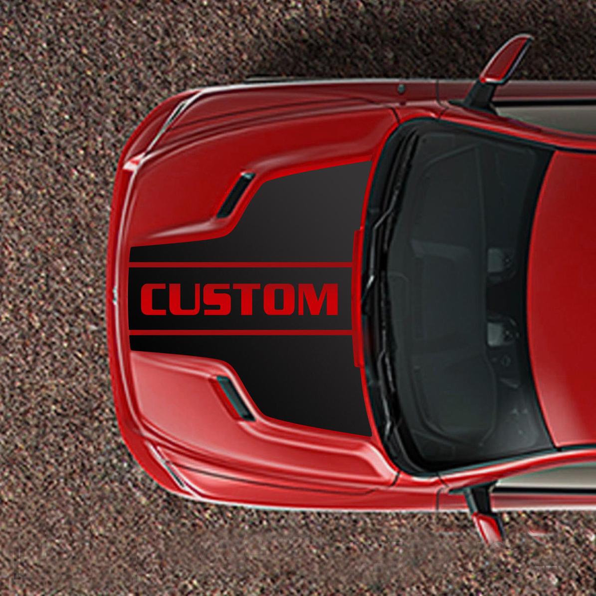Product Ram 1500 Sport Hood Decal Stripe Set Custom Text 5 7 Mopar Dodge