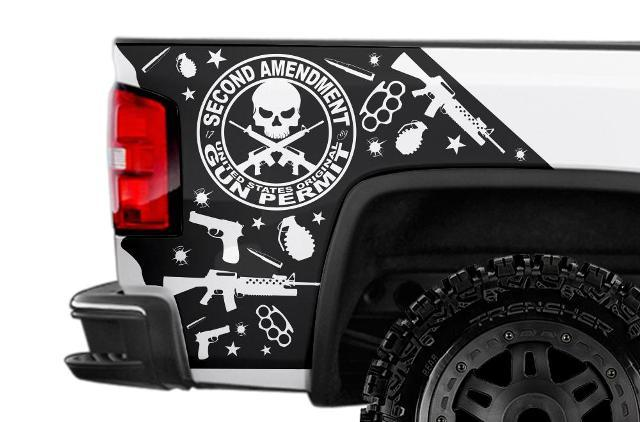 GMC SIERRA 2014-2014 CUSTOM VINYL DECAL WRAP KIT - AMENDMENT
