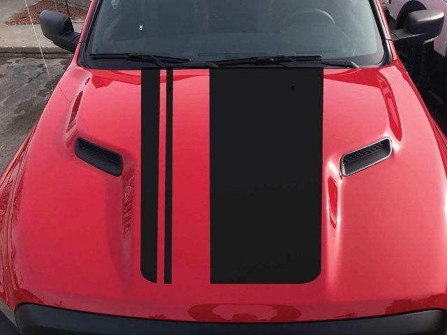 2015-2017 Dodge Ram Rebel Verdunkelungshaube LKW Vinyl Aufkleber Grafikoptionen Farbe