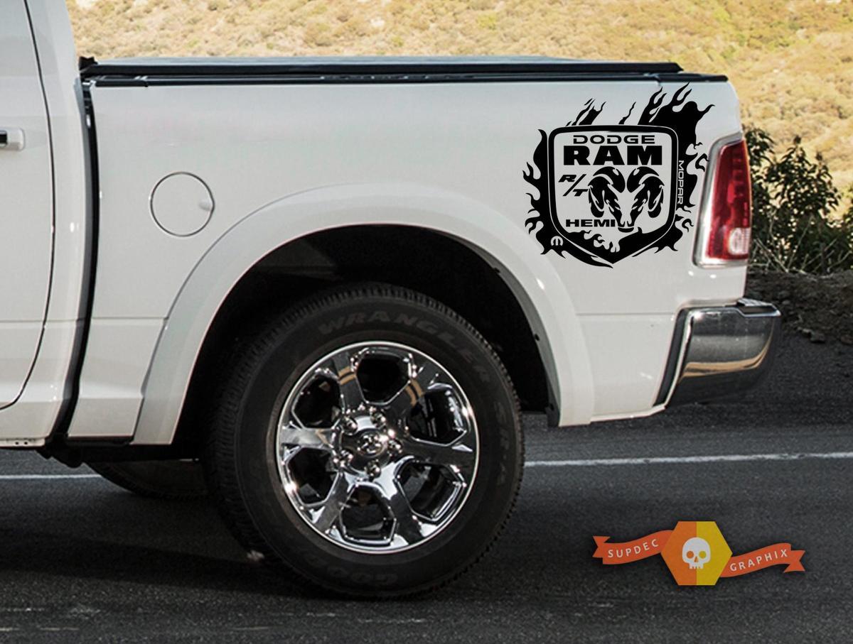 Dodge Ram 1500 2500 RT HEMI Truck Bed Box Grafik Aufkleber Aufkleber Kit benutzerdefinierte Mopar