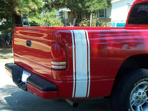 Bed Side Rally Racing Stripes (for all trucks) Decal Sticker