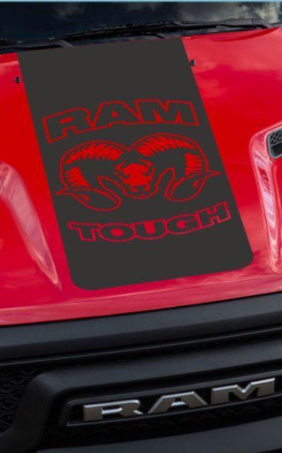 2015-16-17 Dodge Ram Hemi Rebellenhauben-LKW-Aufkleber Grafik Reb-08