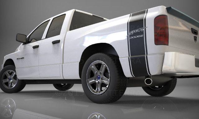 1500 2500 3500 LKW-Ladefläche Seitenstreifen Dodge Ram SPORT Vinyl Aufkleber Aufkleber 017C