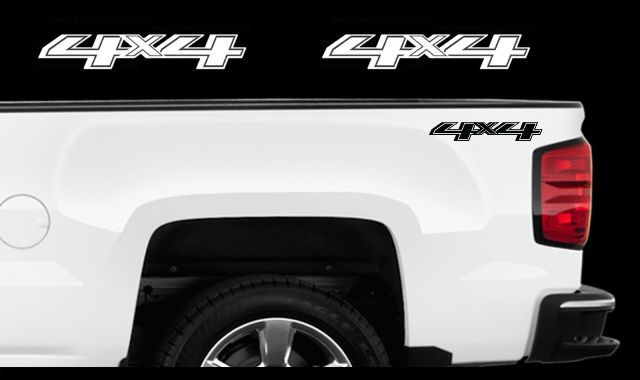 Product 2x 2017 Chevy 4x4 Decals Silverado Gmc Sierra Truck Bed Side Vinyl Stickers