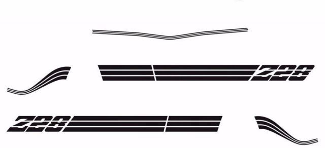 1980 1981 Chevrolet Camaro Z28 Decals & Stripes Kit