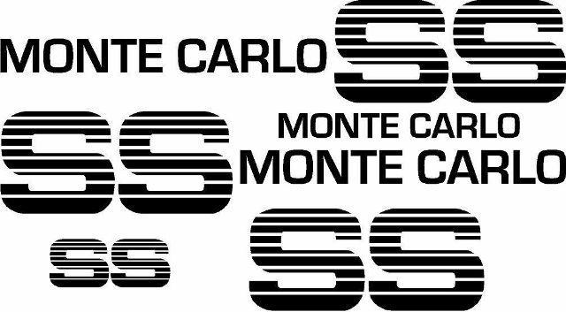 83 84 Chevy SS Monte Carlo Supersport Choo Choo Custom Deluxe Vinyl Aufkleber Kit