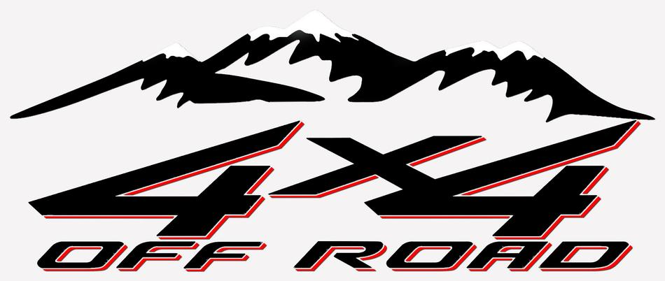 Product Pair X OFFROAD MOUNTAIN TRUCK BED SIDE DECAL FITS CHEVY - Chevy decals for trucks
