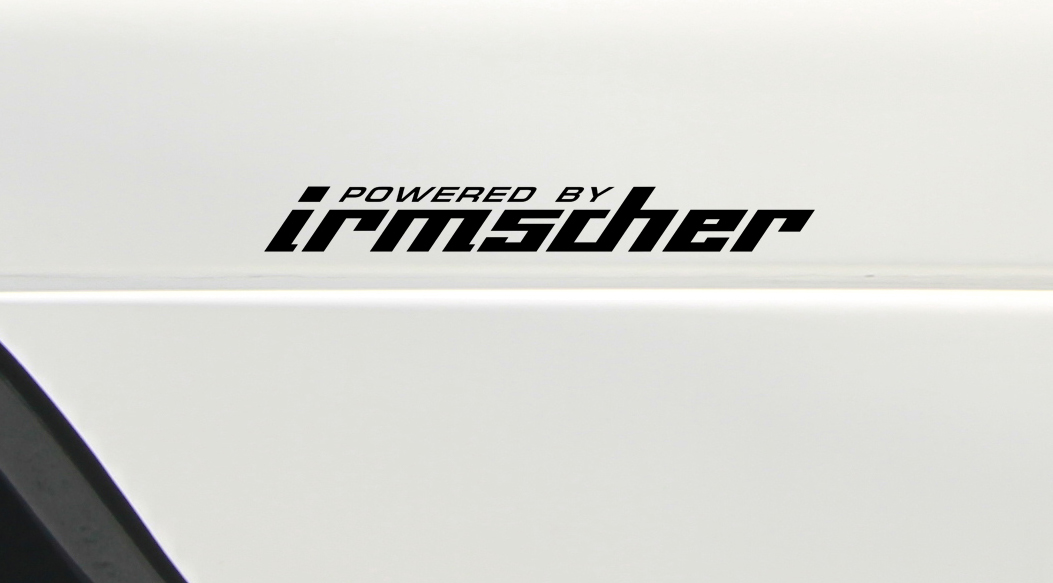4x Powered by Irmscher Opel Sport Racing fits to Astra Vectra Omega Frontera Senator Monza GT