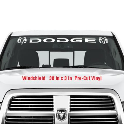 DODGE Windschutzscheibe Vinyl Aufkleber Aufkleber Grafik Aufkleber LKW RAM Hemi Logo