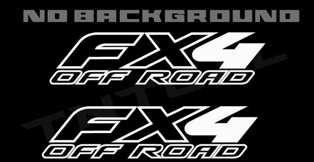 Ford F-150 Fx4 Off Road 1997-2008 Truck Bed Decal Set Vinyl Stickers