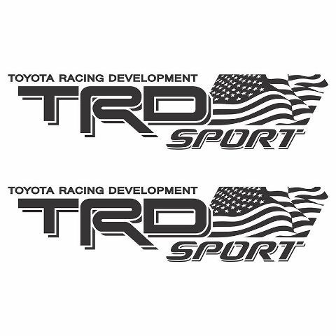 Pair of TRD Racing Development Emblems Domed Decals Stickers