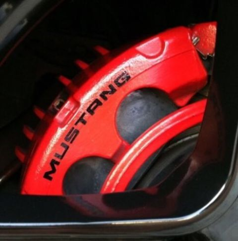 Mustang 6X Bremssattel Hochtemp. Vinyl Aufkleber Aufkleber