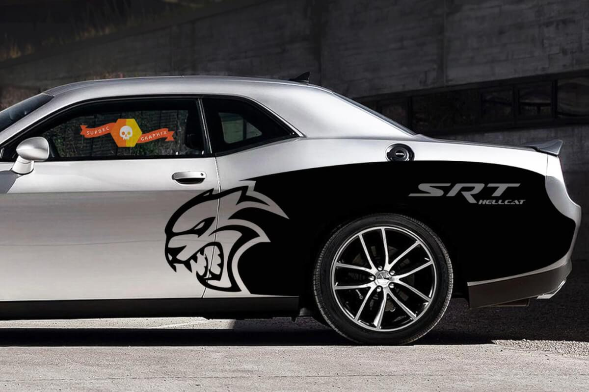 Custom SRT Hellcat Billboard Vinyl Graphic Decals Dodge Challenger 2015 2016 2017