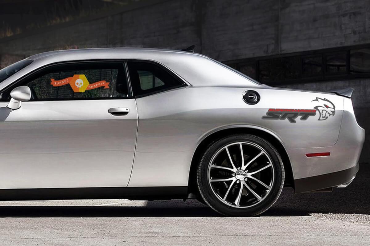 SRT Hellcat Supercharger Vinyl Grafik Aufkleber Dodge Challenger