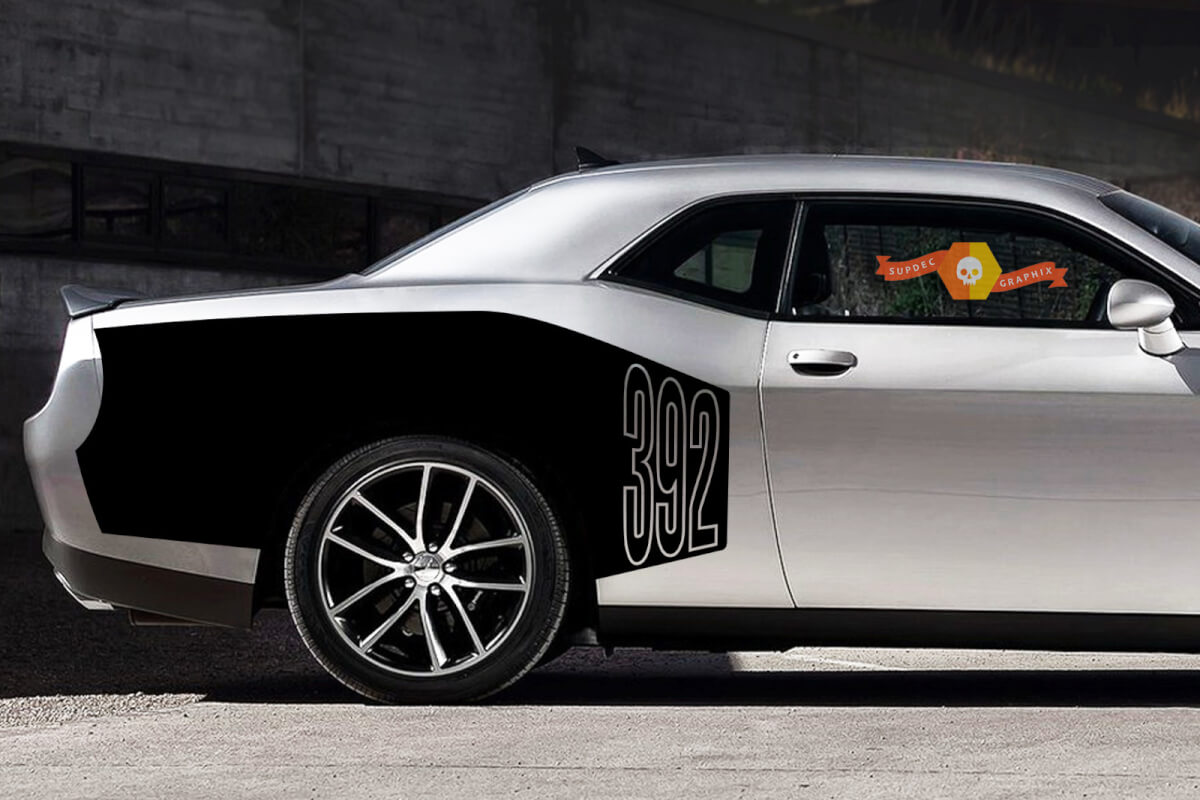 Challenger Billboard Vinyl Grafik Aufkleber Dodge Challenger Hemi 345 370 392 STR 2009 - 2015
