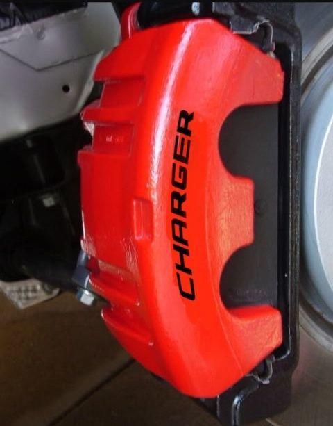 Dodge Charger Bremssattel Hochtemperatur-Vinyl-Aufkleber (jede Farbe) 8X