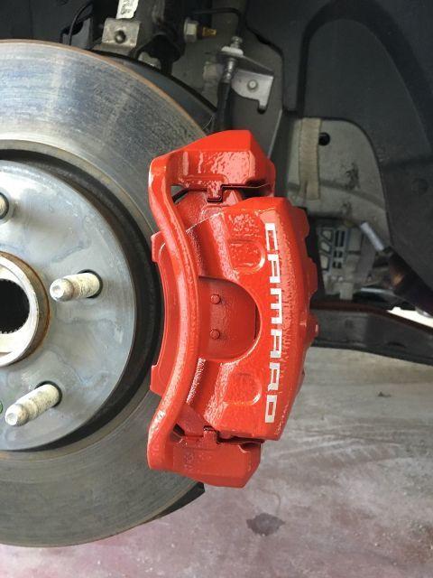 Camaro gebogener Bremssattel Vinyl Aufkleber Aufkleber (jede Farbe) 8er-Set