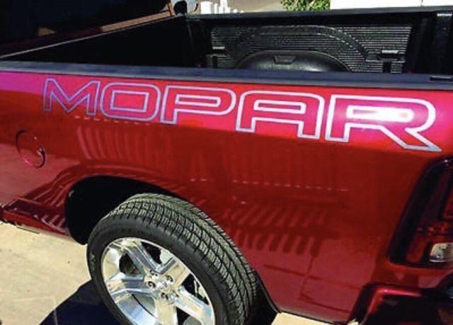 2 Dodge Mopar LKW-Ladeflächenaufkleber Aufkleber HEMI