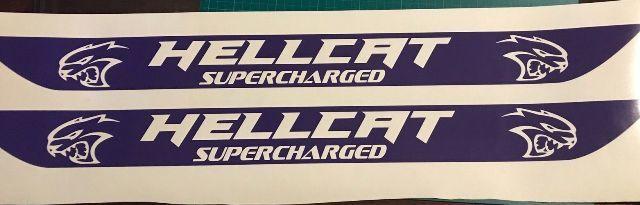 Dodge Challenger Hellcat Einstiegsleisten-Aufkleber 2015 2016 2017 SRT Hemi 392 Protector