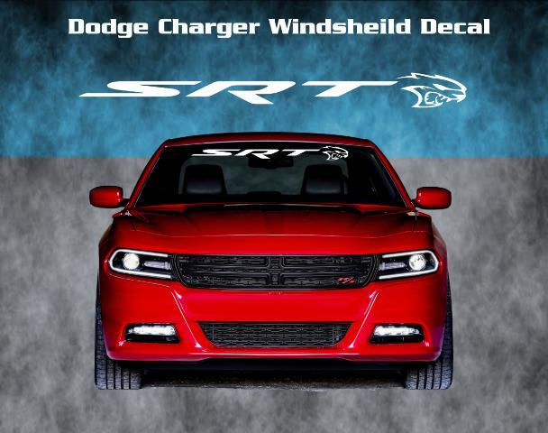 Dodge Charger Srt Hellcat Windshield Vinyl Decal Sticker Graphic Banner Hemi