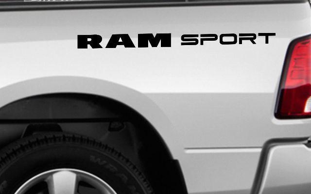 1500 2500 Dodge Ram Sport Vinyl Aufkleber Benutzerdefinierte Abziehbilder Logo Mopar 5,7 L Rebel RT №1
