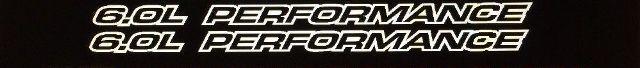 6,0 l Leistung Outlie-Serie für Chevy 1500, 2500 Vinyl Hood Sticker Decals