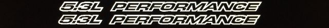 5.3L Performance Outline-Serie für Chevy 1500 Malibu Vinyl Hood Aufkleber