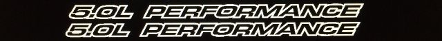5.0L Performance Outline Series Fits Chevy 1500, Ford Mustang Vinyl Hood Decals