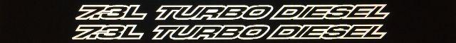 7,3 l Turbo Diesel Outline-Serie für Aufkleber mit F-250- und F-350-Vinyl-Motorhaubenaufklebern