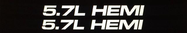 1 Paar 5,7 l HEMI Vinyl Aufkleber für Ford, Dodge, Chevy. 13