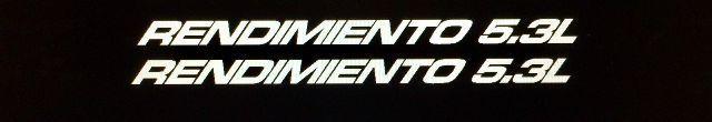 Rendimiento Performance 5.3L Spanische Abziehbilder für Chevy Silverado, Malibu