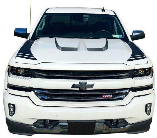 Hood Accent Graphic Stripes 2016 2017 2018 Chevrolet Silverado 1500